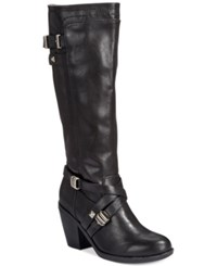 Rialto Madyson Tall Wide Calf Boots Women's Shoes Black
