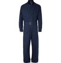 Connolly Goodwood Belted Cotton Gabardine Overalls Navy