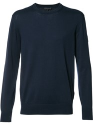 Belstaff Crew Neck Jumper Blue