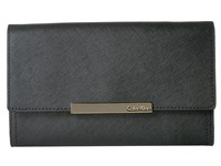 Calvin Klein Evening Saffiano Clutch Black Gold Clutch Handbags