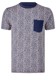Pretty Green Reilly Print Pocket T Shirt Multi