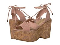 Sbicca Staycation Blush Wedge Shoes Pink