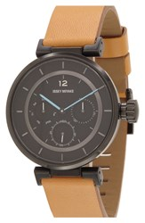 Issey Miyake Chronograph Leather Strap Watch 39Mm