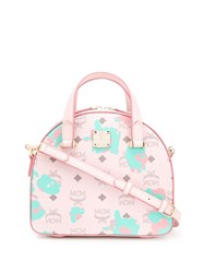 Mcm All Over Logo Tote Bag 60