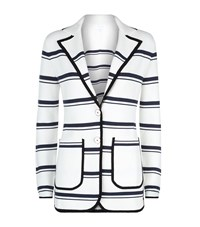 Escada Sport Nautical Stripe Knitted Blazer Female