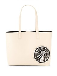 Love Moschino The World Faux Leather Tote White