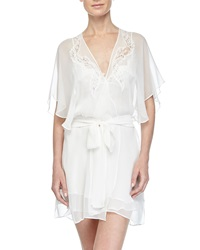 Christine Diva Lace Applique Short Robe Pearl
