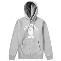 A Bathing Ape College Heavy Weight Pullover Hoody Grey
