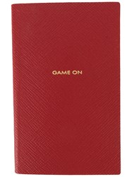 Smythson Game On Notebook Red