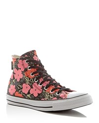 Converse Chuck Taylor All Star Andy Warhol Floral High Top Sneakers Poppy Red Fuchsia Purple White