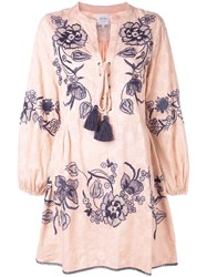 Misa Los Angeles Embroidered Peasant Blouse Pink