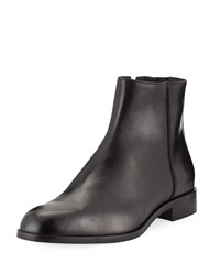 Donald J Pliner Milo 13 Leather Zip Ankle Boots Black