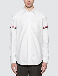 Thom Browne Classic Oxford Shirt With Stripe White