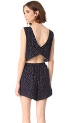 Cupcakes And Cashmere Gianna Button Back Romper Ink