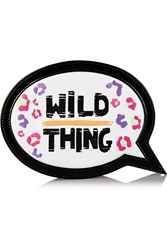 Sophia Webster Wild Thing Embroidered Leather Clutch White