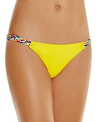 Red Carter Friendship Bracelet Spring Braided Side Bikini Bottom Punch Yell
