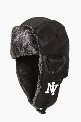 Boohoo Ny Faux Fur Lined Trapper Black