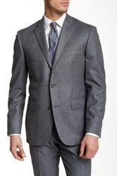 Wallin And Bros Two Button Wool Flannel Blazer Gray