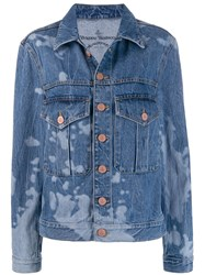 Vivienne Westwood Anglomania Bleached Effect Denim Jacket Blue