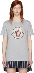 Moncler Gamme Rouge Grey Lace Logo T Shirt
