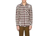 Nsf Distressed Plaid Cotton Shirt Multi