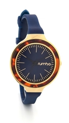Rumbatime Orchard Tortoise Watch Midnight Blue