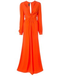 Ginger And Smart Orphic Knot Detail Gown Red