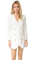 Michelle Mason Blazer Dress Ivory
