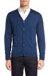 John Smedley Men's 'Bryn' Easy Fit Wool Button Cardigan Indigo