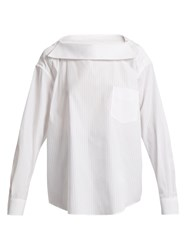 Toga Back To Front Striped Shirt White