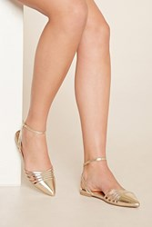 Forever 21 Pointed Metallic Flats