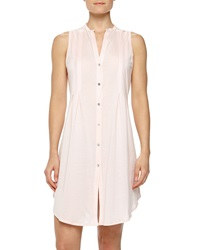 Hanro Sleeveless Shirtwaist Nightgown Tender Rose