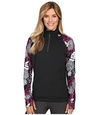 Skirt Sports Tough Chick Top Black Enchanted Print Women's Long Sleeve Pullover