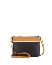 Hare Hart Togo Colorblock Pouch Crossbody Bag Black Camel