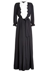 Boutique Moschino Floor Length Dress With Silk Black