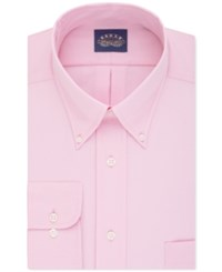Eagle Men's Big And Tall Classic Fit Stretch Collar Non Iron Solid Dress Shirt Blush
