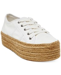 Steve Madden Women's Hampton Flatform Espadrille Sneakers Women's Shoes White