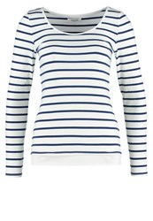 Zalando Essentials Long Sleeved Top Off White Navy Off White