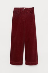 Handm H M Cotton Corduroy Pants Red