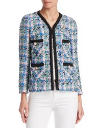 Edward Achour Multicolor Weave Jacket Green