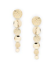 Catherine Malandrino Natural Oppulance Drop Earrings Gold