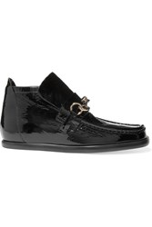 Acne Studios Kerin Patent Leather Ankle Boots Black