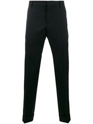 Valentino Straight Trousers Men Cotton Mohair Wool 48 Blue