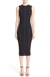 Women's Victoria Beckham Contrast Inset Knit Sheath Dress