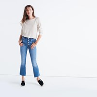 Madewell Cali Demi Boot Jeans Button Front Edition Fenton Wash