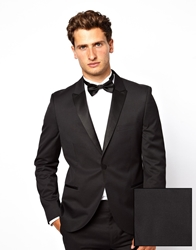 French Connection Slim Fit Tuxedo Suit Jacket Black