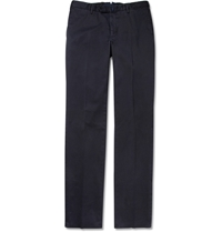Incotex Four Season Slim Fit Cotton Blend Chinos Blue