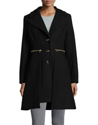 Trina Turk Notch Lapel Long Coat Black