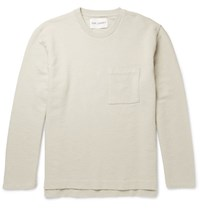 Our Legacy Brushed Loopback Cotton And Linen Blend Jersey Sweatshirt Sand