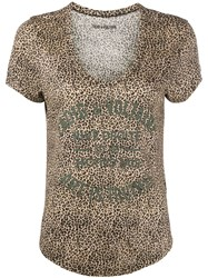 Zadig And Voltaire Aretha Leopard Print T Shirt 60